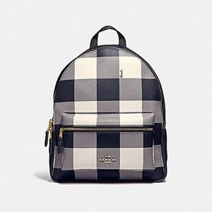 2019 Coach Buffalo Check Backpack